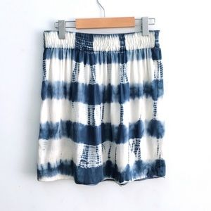 Club Monaco Silk Tie Dye Skirt